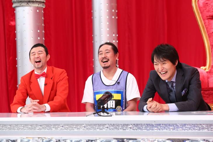 「千原ジュニアの座王~爆笑傑作選1時間SP~」に出演する(左から)ザ・プラン9・お~い!久馬、笑い飯・西田、千原ジュニア。(c)関西テレビ