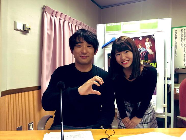 「まだ帰りたくない大人たちへ チョコレートナナナナイト!」に出演する(左から)アルコ&ピース酒井、矢端名結アナ。(c)SBSラジオ