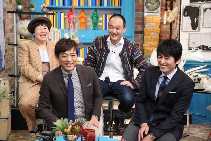 「それって!?実際どうなの課」に出演する博多華丸・大吉と(後列左から)森三中・大島、みなみかわ。(c)中京テレビ