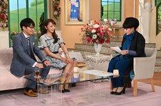 (左から)ハマカーン神田、神田うの、黒柳徹子。(c)テレビ朝日