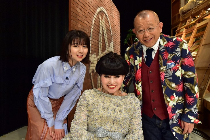 「A-Studio」に出演する(左から)上白石萌歌、黒柳徹子、笑福亭鶴瓶。(c)TBS