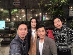 左からチュートリアル徳井、ピース又吉、ナインティナイン岡村、今田耕司。(c)NHK