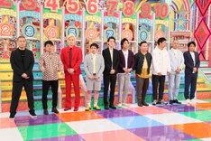 「芸人リスペクト番付」でランク付けされる芸人たち。(c)テレビ朝日