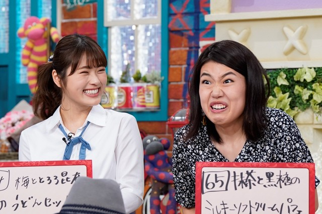 左から渋谷凪咲、横澤夏子。(c)読売テレビ