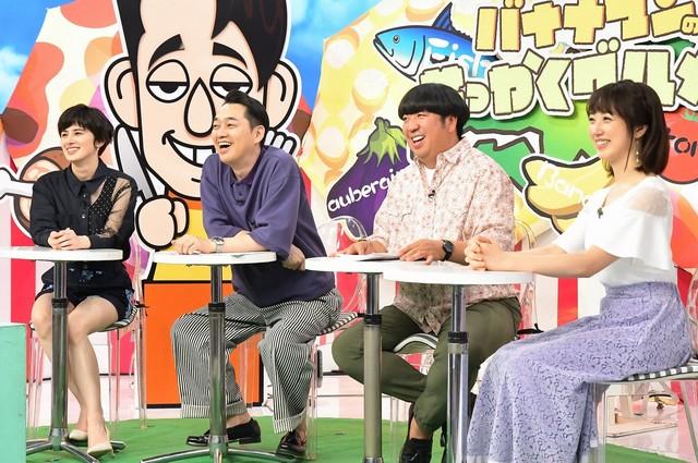 (左から)ホラン千秋、バナナマン、川田裕美。(c)TBS