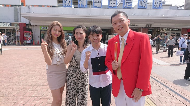 左からゆきぽよ、友近、中川家。(c)読売テレビ