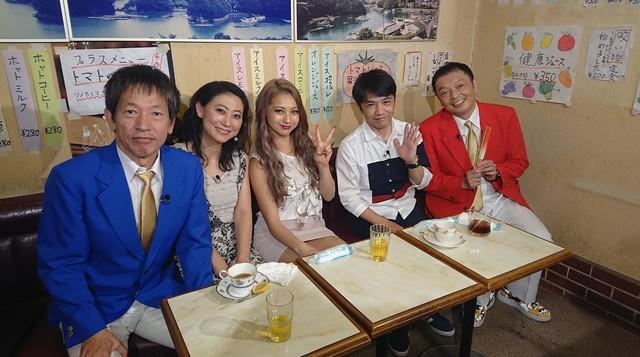 左からちゃらんぽらん冨好、友近、ゆきぽよ、中川家。(c)読売テレビ