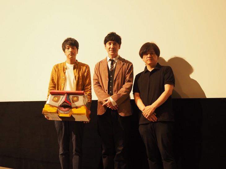 左から、宇治茶、ココリコ田中、安斎レオプロデューサー。