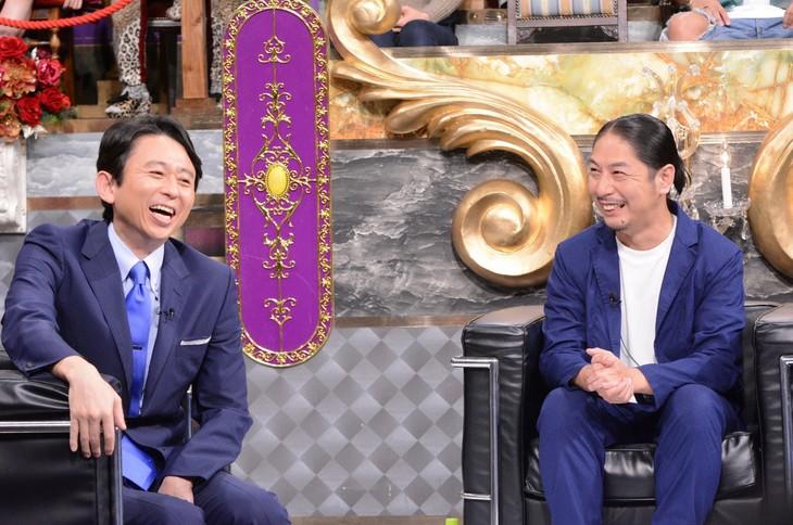 左から有吉弘行、GP a.k.a N.O.B.B。(c)日本テレビ