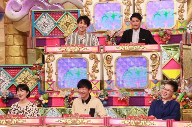 (下段左から)磯野貴理子、パンサー向井、柴田理恵、(上段左から)KENZO、ますだおかだ岡田。(c)フジテレビ