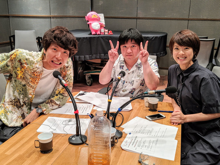 ニッポンの社長と喜多ゆかり(ABCアナウンサー)。