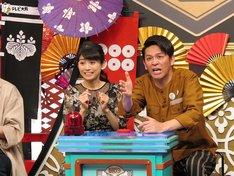 左から松尾依里佳、ますだおかだ岡田。 (c)テレビ大阪