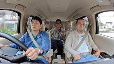 千鳥ノブが運転する車中の様子。(c)テレビ信州