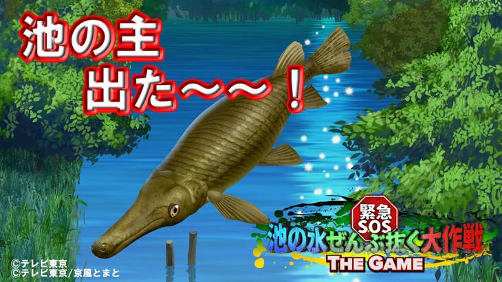 「緊急SOS!池の水ぜんぶ抜く大作戦~THE GAME~」のプレイ画面。