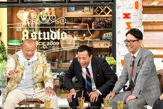 (左から)笑福亭鶴瓶、ナイツ。(c)TBS