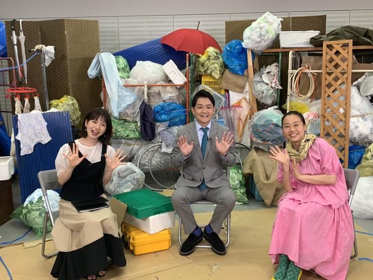 「ノブナカなんなん?」に出演する(左から)弘中綾香アナ、千鳥ノブ、いとうあさこ。(c)テレビ朝日