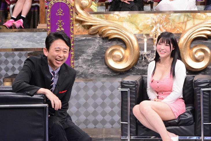 左から有吉弘行、みねりお。(c)日本テレビ