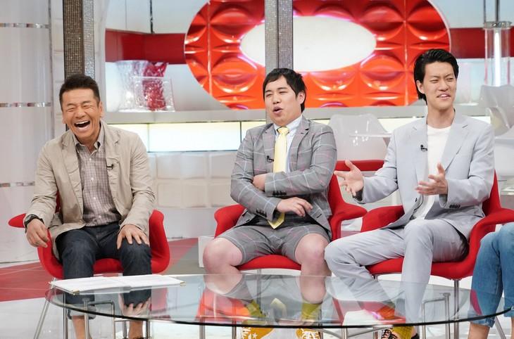 左からくりぃむしちゅー上田、霜降り明星。(c)日本テレビ