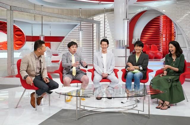 左からくりぃむしちゅー上田、霜降り明星、藤木直人、森泉。(c)日本テレビ