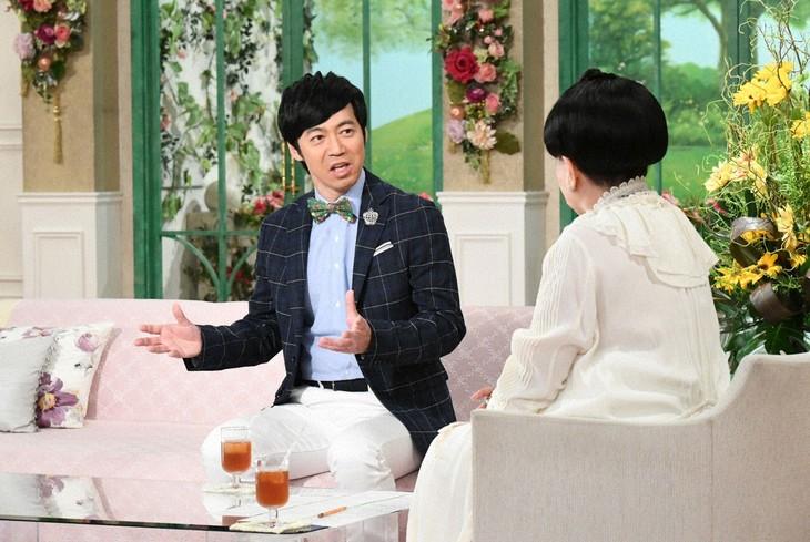 「徹子の部屋」に出演する東貴博(左)と黒柳徹子。(c)テレビ朝日