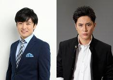 ドラマ「べしゃり暮らし」演出の劇団ひとりと、主演の間宮祥太朗(右)。