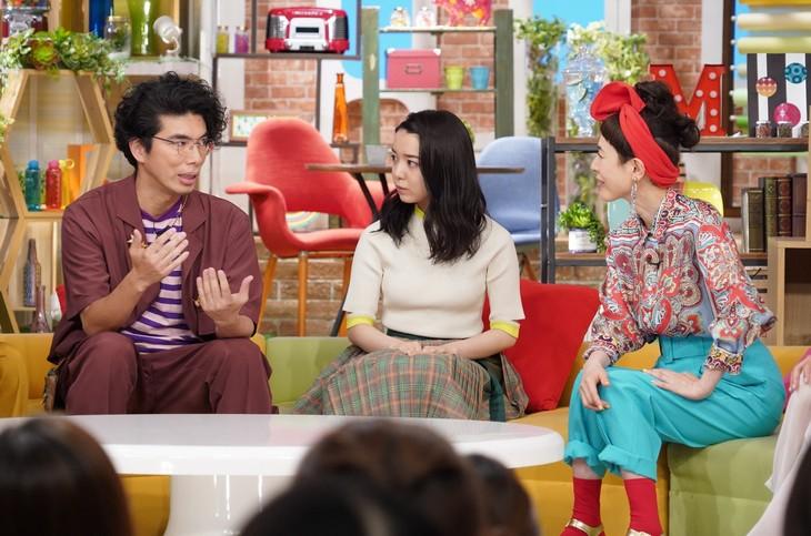 左から片桐仁、上白石萌音、久本雅美。(c)日本テレビ
