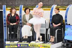 左から天才ピアニストますみとその母、吉本新喜劇の松浦景子とその母。(c)MBS