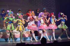 「ライブミュージカル『プリパラ』み~んなにとどけ!プリズム☆ボイス」公開リハーサルの様子。