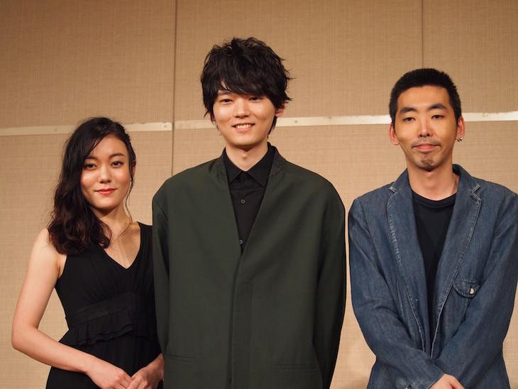 「イニシュマン島のビリー」会見より。左から鈴木杏、古川雄輝、柄本時生。