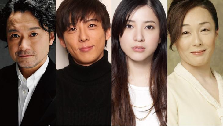 左から「レディエント・バーミン」演出の白井晃、出演の高橋一生、吉高由里子、キムラ緑子。