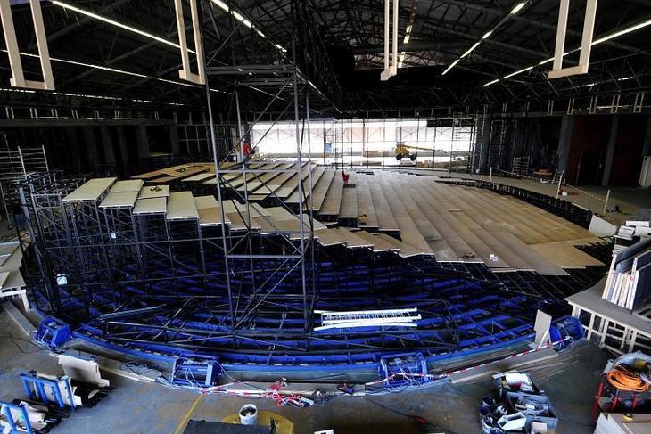 360°シアター StageAround TOKYOの劇場中央に設置される円形客席。