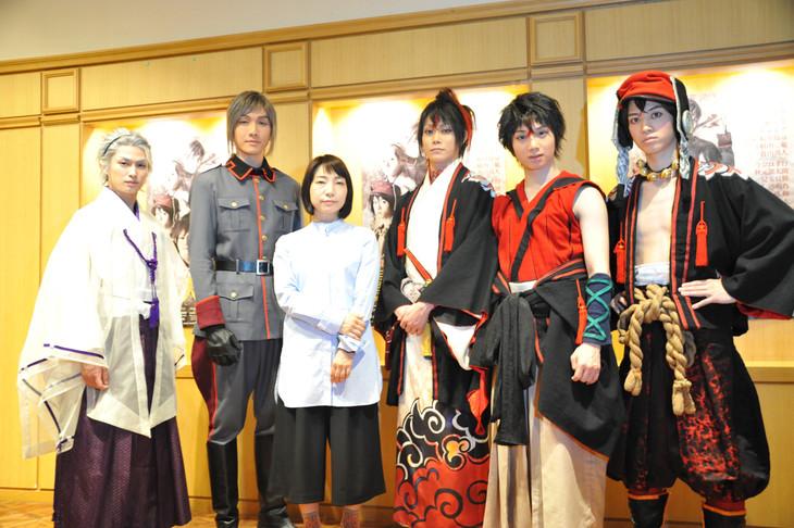 (左から)松田凌、細貝圭、菜月チョビ、玉城裕規、植田圭輔、百瀬朔。