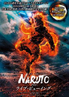 「ライブ・スペクタクル『NARUTO-ナルト-』」ライブビューイングの告知ビジュアル。