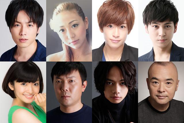 上段左より鈴木勝吾、透水さらさ、赤澤燈、井澤勇貴。下段左より吉田仁美、オラキオ、池田純矢、酒井敏也。