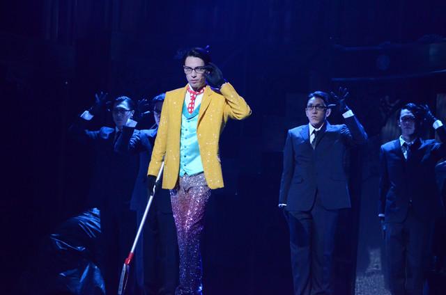 「ミュージカル『黒執事』~NOAH'S ARK CIRCUS~」ゲネプロの様子。輝馬演じるウィリアム・T・スピアーズ。