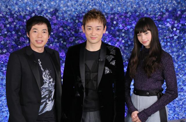 日本テレビ系「another sky-アナザースカイ-」より、左から今田耕司、山本耕史、中条あやみ。(c)日本テレビ
