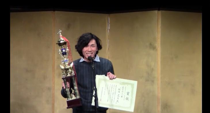 2016年度佐藤佐吉賞授賞式より、あやめ十八番の堀越涼。