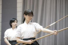 映画「あさひなぐ」より、西野七瀬演じる東島旭。