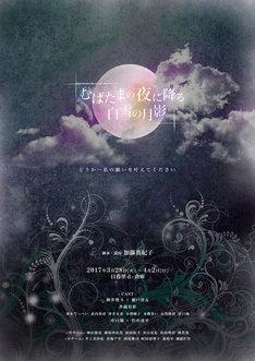 「むばたまの夜に降る白雪の月影」チラシ