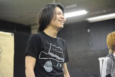 ブロードウェイミュージカル「きみはいい人、チャーリー・ブラウン」公開稽古より、中川晃教演じるスヌーピー。