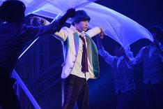 ミュージカル「スタミュ」ゲネプロより、ランズベリー・アーサー演じる月皇海斗。