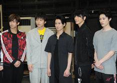 左から赤澤燈、宮崎秋人、松田凌、廣瀬智紀、安西慎太郎。