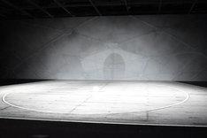 「ハイパープロジェクション演劇『ハイキュー!!』展」より。舞台セットの展示。