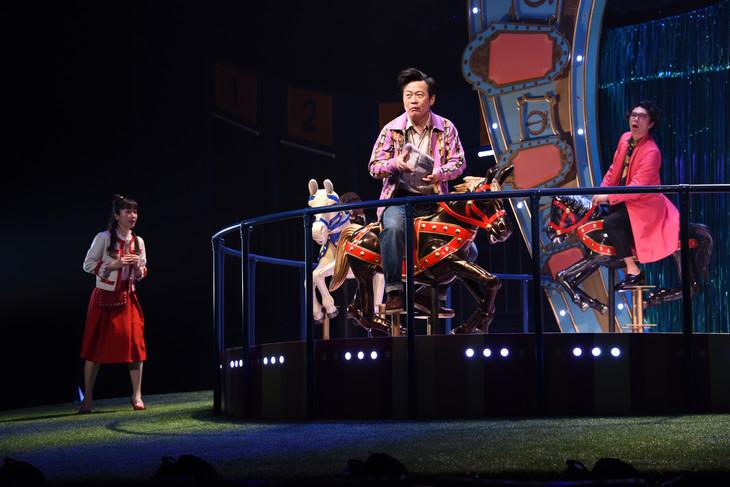 パルコ・プロデュース「サクラパパオー」公開舞台稽古より。