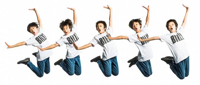 ミュージカル「ビリー・エリオット~リトル・ダンサー~」ビリー役の5人。右から2番目が未来和樹。