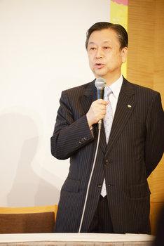 ミュージカル「にんじん」製作発表記者会見より。松竹・安孫子正副社長