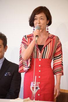 ミュージカル「にんじん」製作発表記者会見より。キムラ緑子