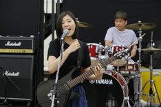 「FILL-IN~娘のバンドに親が出る~」公開稽古より。