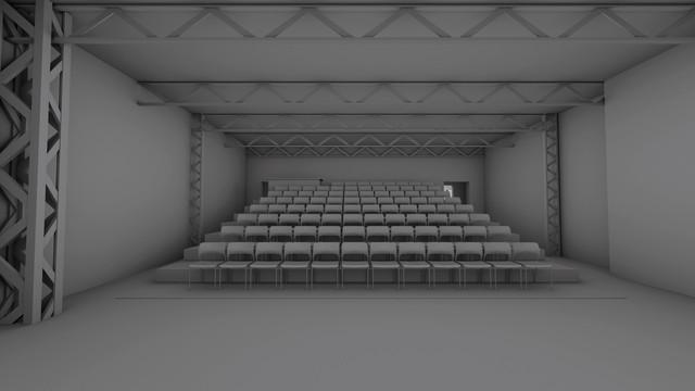 「Theatre E9 Kyoto」劇場のイメージ。