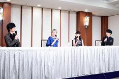 左から加藤和樹、平野綾、花總まり、山崎育三郎。